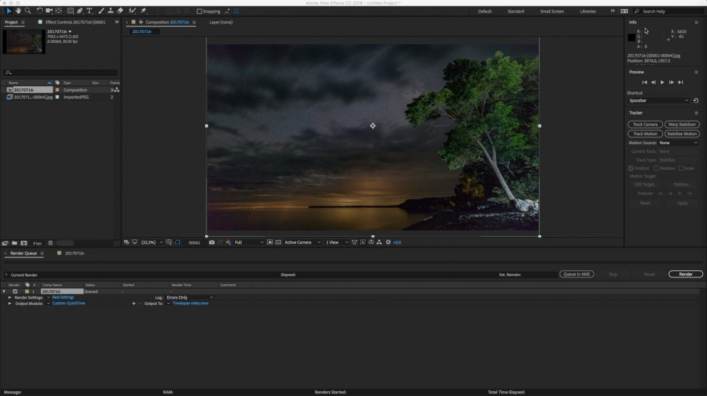After Effects Video Export